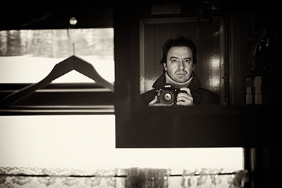 Self portrait of documentary photographer Dmitrij Leltschuk